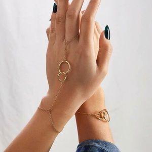Jewelry - Circle Link Hand Chain & Bracelet